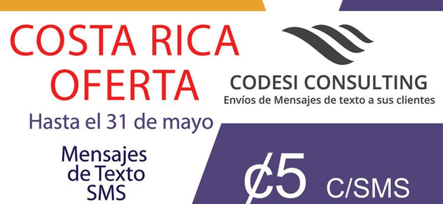 envio de sms masivos - Codesi Consulting - Oferta Costa Rica