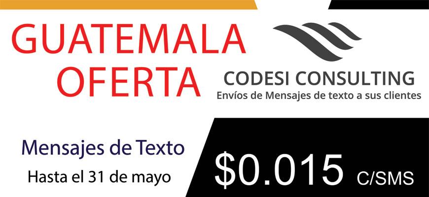 envio de sms masivos - Codesi Consulting - Oferta Guatemala