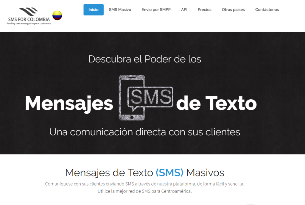 SMS for Colombia